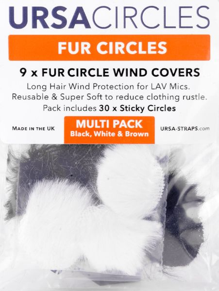 Ursa 9 x Fur Circles Wind Covers incl. 30 stickies gemischt