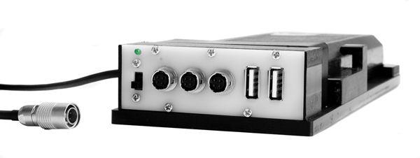 Akkuhalter 3x Hirose-Buchse und 2x USB