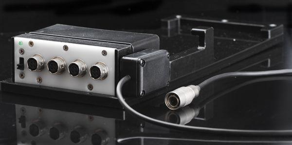 Akkuhalter 4x Hirose-Buchse und ON/OFF Schalter inkl. 12V geregelt