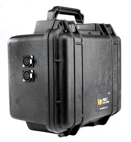 Peli Akku Case 12V/28Ah Peli 1300 mit 2 x XLR4F  Buchse