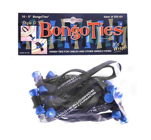 BongoTies Style D 10er Pack Azure (blue bongo)