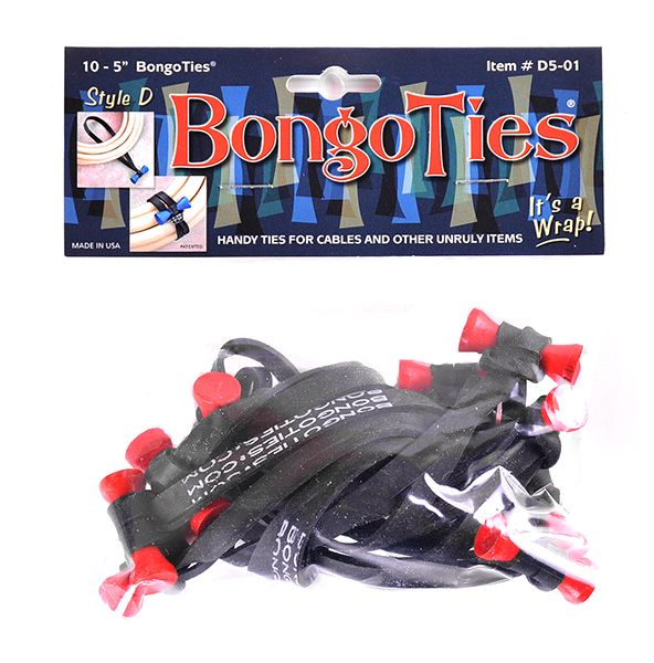 BongoTies Style D 10er Pack Lava (red bongo)