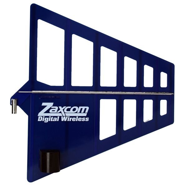 Zaxcom BlueFin aerodynamic 8 dB Passive log periodic antenna for indoor / outdoor use
