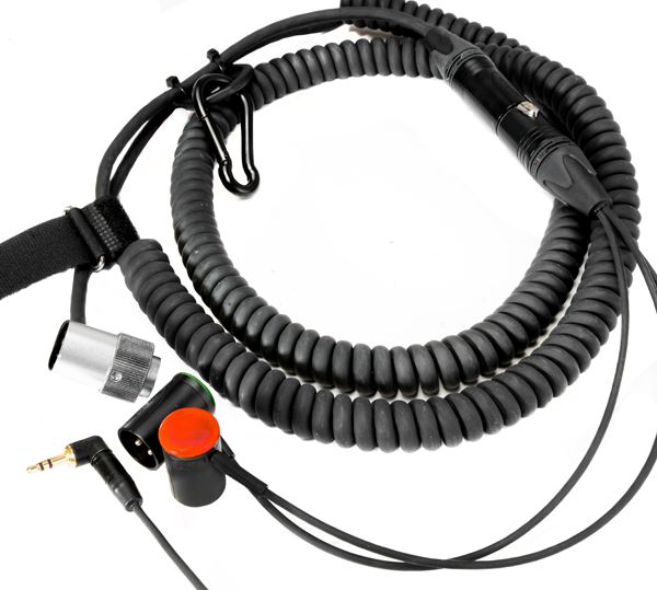 Hinterbandspiralkabel für Sound Devices 688, 664, 552, 442, SQN4 (alte Modelle), Cooper CS104