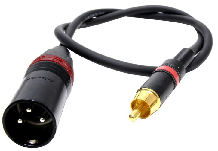 Adapterkabel XLR3M - CINCH
