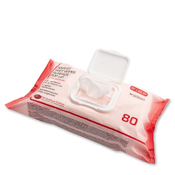 Wet Wipes Surface Pop Up Alkoholfrei, 22x20, 80St