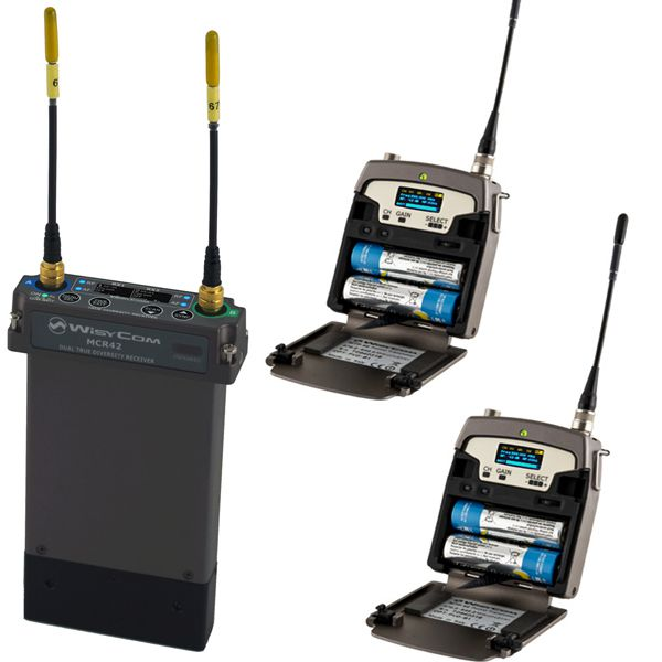 WISYCOM KIT DEAL WI-MCR-42S3-HPN + MTP-40S + MTP-40S