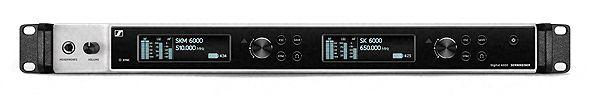 EM 6000 2-Kanal-Digital-Empfänger, True-Bit-Diversity, LR-Mode, AES-3, aktiver Antennensplitter, AES 256, Frequenz: 470-714 MHz