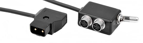 Hiroseverteiler 2x Hirose-Buchse inkl. ON/OFF Schalter mit D-Tap Kabel