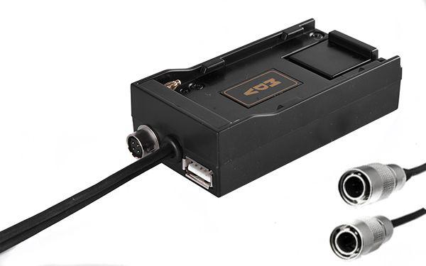 NP-F 1x Hirose-Buchse, 1x USB Buchse und 2x Hirose Kabel