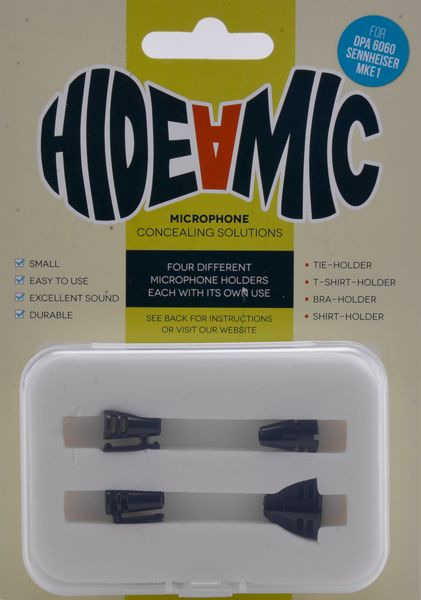 Hide-a-mic Set für DPA 6060 / MKE 1 black: Bra- / Shirt- / Tie- / T-Shirt-Holder