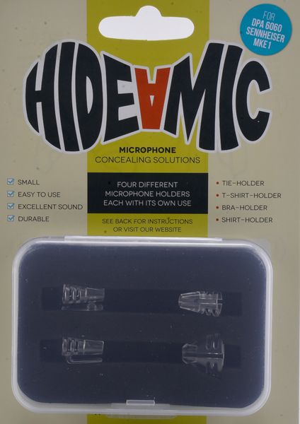 Hide-a-mic SENNHEISER MKE 1-Set: Bra- / Shirt- / Tie- / T-Shirt-Holder transparent