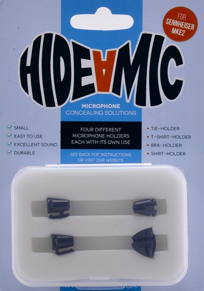 Hide-a-mic SENNHEISER MKE 2-Set: Bra- / Shirt- / Tie- / T-Shirt-Holder