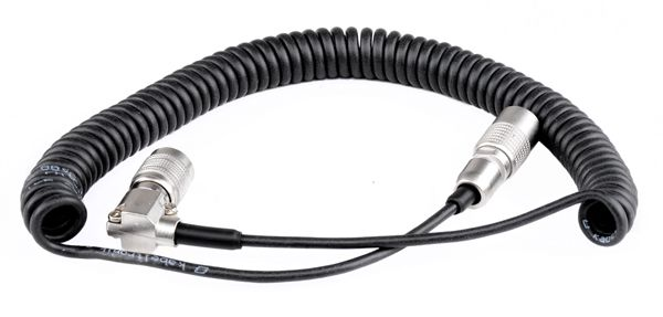 Hirose 4 - Hirose 4 90° Coiled Cable