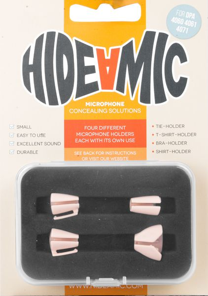 Hide-a-mic Set für DPA 4060 / 4061 / 4071 beige: Bra- / Shirt- / Tie- / T-Shirt-Holderra- / Shirt- / Tie- / T-Shirt-Holde