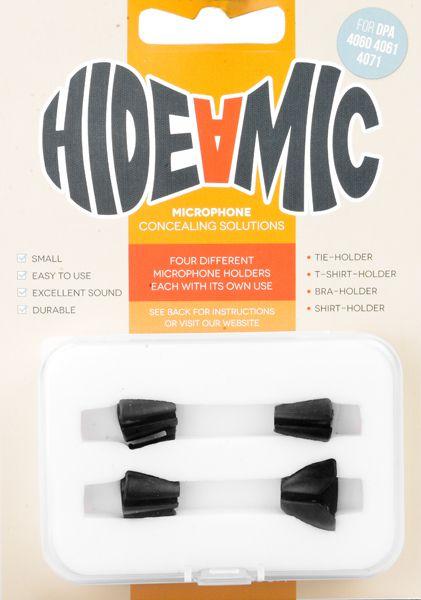 Hide-a-mic Set für DPA 4060 / 4061 / 4071 schwarz: Bra- / Shirt- / Tie- / T-Shirt-Holde