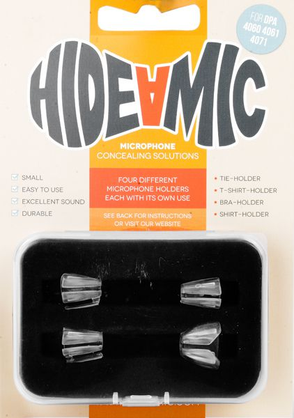 Hide-a-mic Set für DPA 4060 / 4061 / 4071 transparent: Bra- / Shirt- / Tie- / T-Shirt-Holder