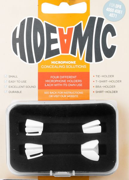 Hide-a-mic Set für DPA 4060 / 4061 / 4071 weiß: Bra- / Shirt- / Tie- / T-Shirt-Holder