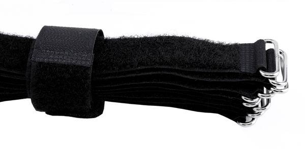10 Kabelbinder 2,5 cm breit, schwarz, Länge 35cm