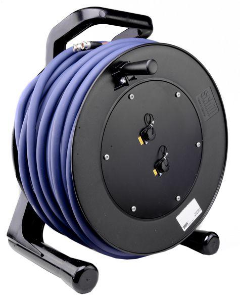 Kabeltrommel HD-SDI Doppel-Kabel BNC-BNC 75 Ohm, 50m