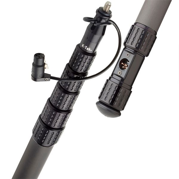 K-Tek KP12CCR – KlassicPro 12′, Graphite, 6 section, internal coiled cabled, side exit, Boompole