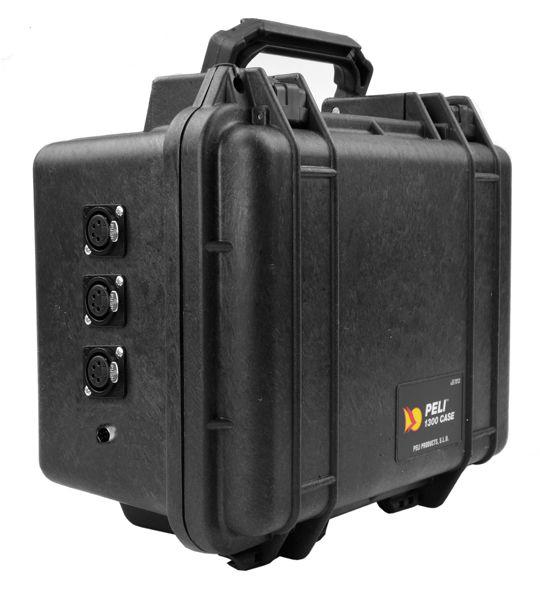 Peli Akku Case 12V/28Ah Peli 1300 mit 3x XLR4F + 1x Hirose-Buchse