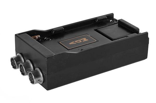 Kortwich NP-F Akkuhalter mit 3x Hirose-Buchsen 12V