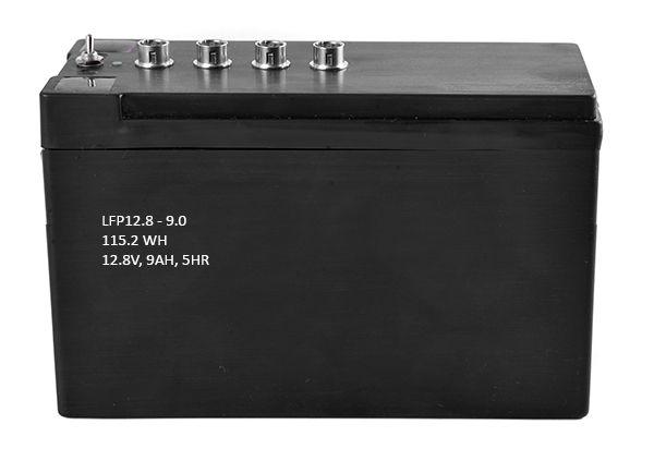 LiFeEnergy LiFePO4 Akku 12V 9Ah mit BMS