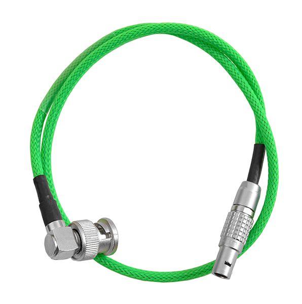 TCI Lemo 5pol - BNC 90° mit grünem Gewebeschlauch