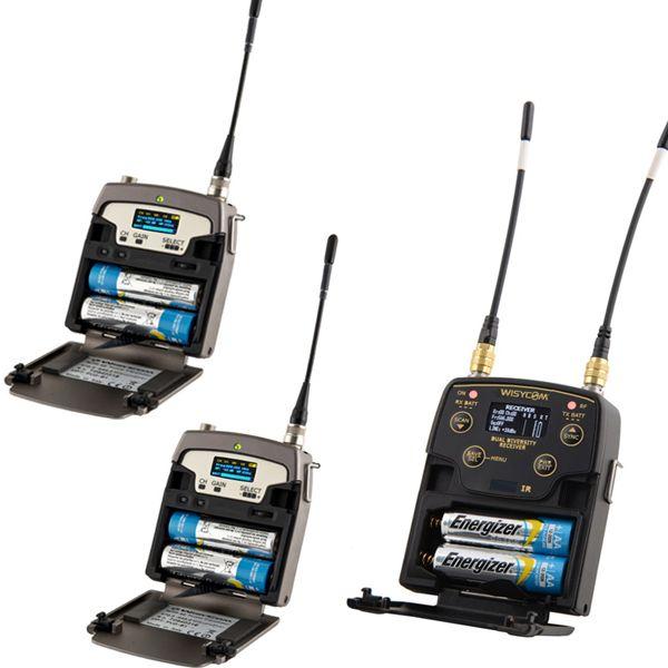 WISYCOM Promo KIT A MPR52-ENG-B + 2x MTP40s + Bag