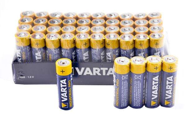 Varta Batterien Industrial Mignon AA LR6 4006 Alkaline Batterie Made in Germany  in umweltschonender Verpackung