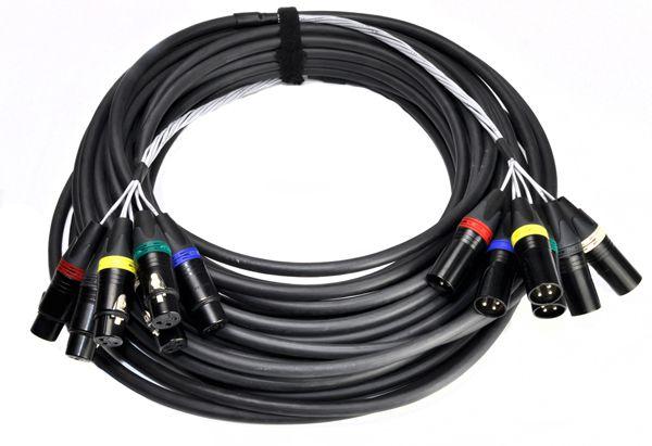 Multicore Kabel 6x XLR3F/M 20m