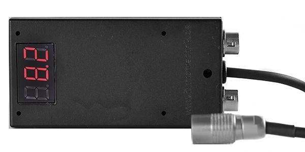 Kortwich NP-F Akkuhalter mit 2x Hirose-Buchsen 12V, 1x Kabel-Hirose inkl. Voltanzeige