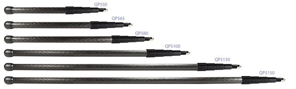 QP580    QuickPole Tonangel, Kohlefaser, 81 - 310 cm