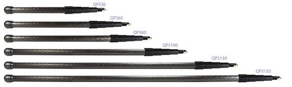 QP550    QuickPole Tonangel, Kohlefaser, 52 - 185 cm