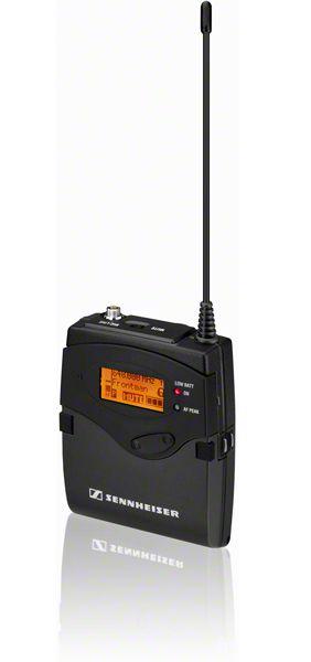 Sennheiser Taschensender, HDX, Ladekontakte, 3pol. SE-Buchse, 2x Mignon, 516-558 MHz