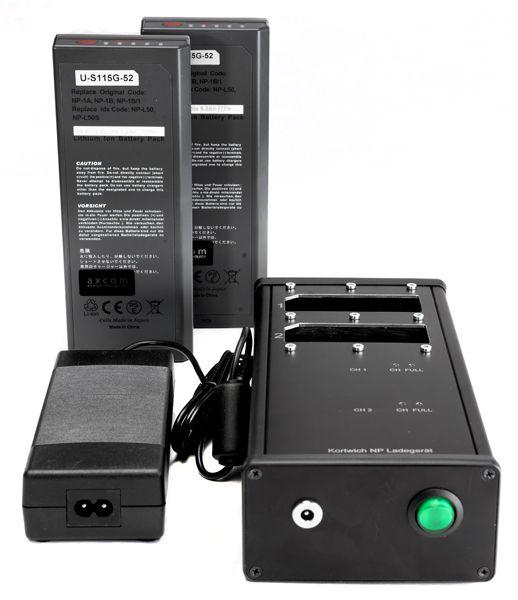 Starterpack mit Dual Charger 2-Kanal Kortwich für NP-1
