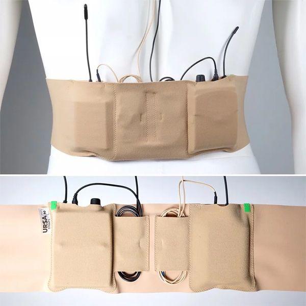 Ursa Double Pouch Waist Strap Medium / Big Pouch / BEIGE / 100 cm