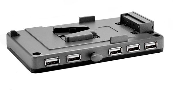 V-Mount Halter 5x USB Buchse und D-Tap