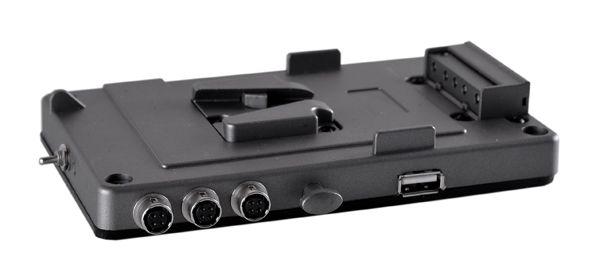 V-Mount Halter 3x Hirose Buchse, 1x USB inkl. ON/OFF Schalter