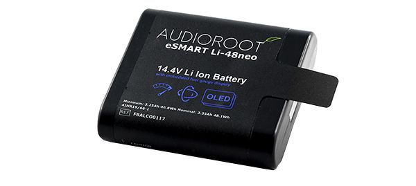 AUDIOROOT 14.4V 48Wh smart lithium battery with embedded OLED display