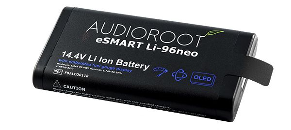 AUDIOROOT 14.4V 96Wh smart lithium battery with embedded OLED display