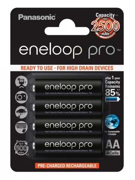 eneloop pro AA 2500 mAh single blister 4 pieces