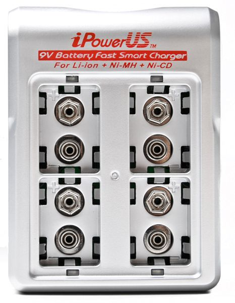 IP-FC-9V4LN iPowerUS dual mode 4-bay 9 V fast smart charger