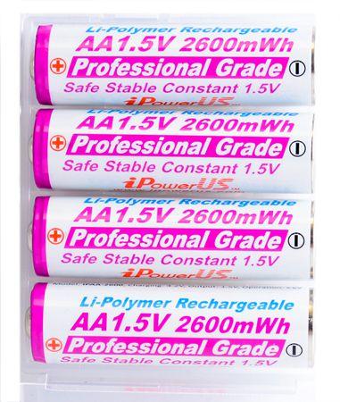 iPowerUS - AA Li-Polymer-Akku mit 1,5V / 2600 mWh / 4er Pack