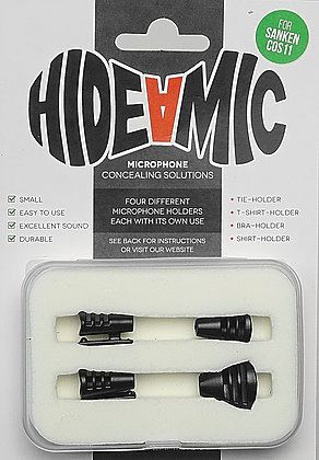 Hide-a-mic SANKEN COS-11-Set black: Bra- / Shirt- / Tie- / T-Shirt-Holder
